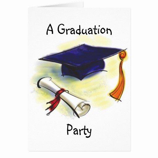 Graduation Invitation Card Template Best Of Graduation Party Invitation Template