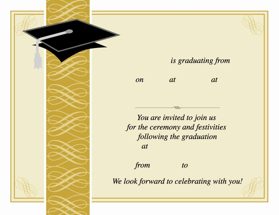 Graduation Invitation Card Template Best Of Invitation Card for Graduation Day 40 Free Graduation