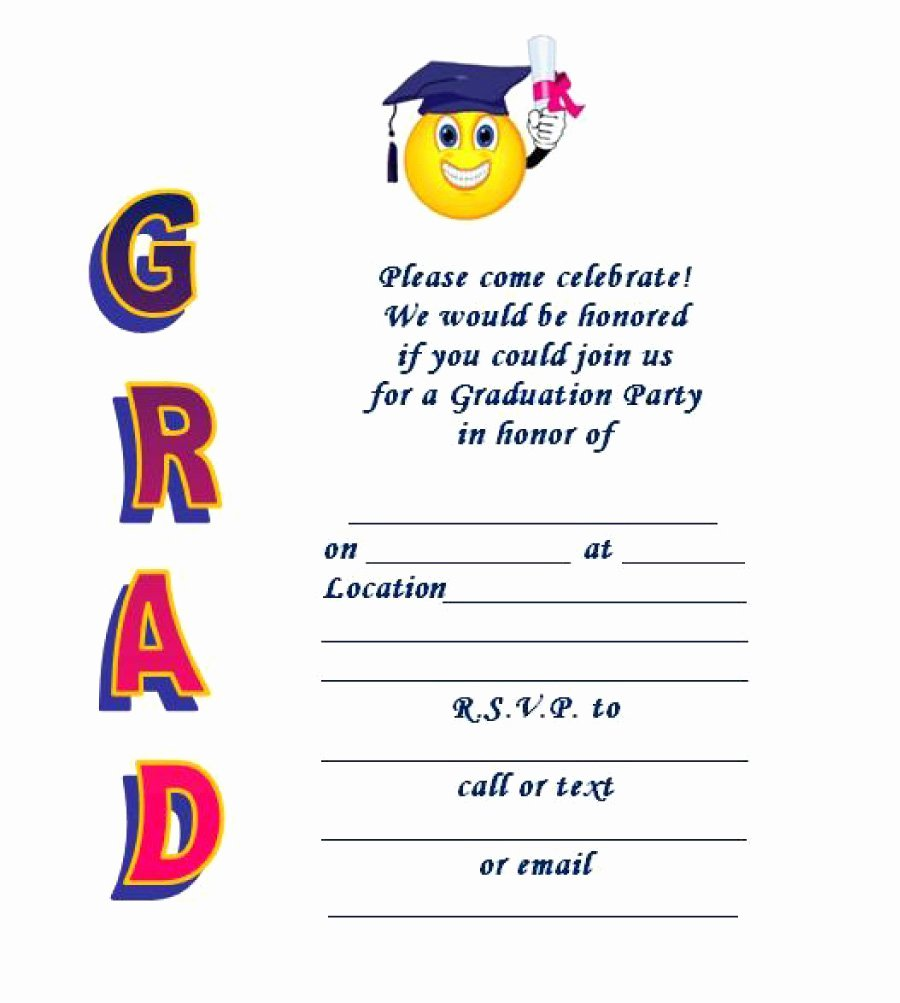 Graduation Invitation Card Template Elegant 40 Free Graduation Invitation Templates Template Lab