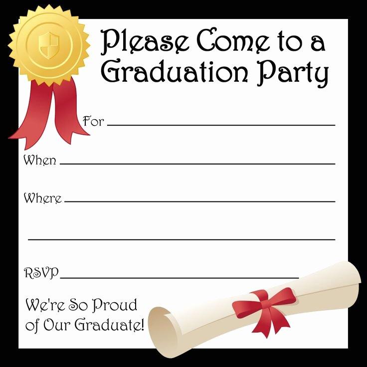 Graduation Invitation Card Template Elegant Free Printable Graduation Party Invitations