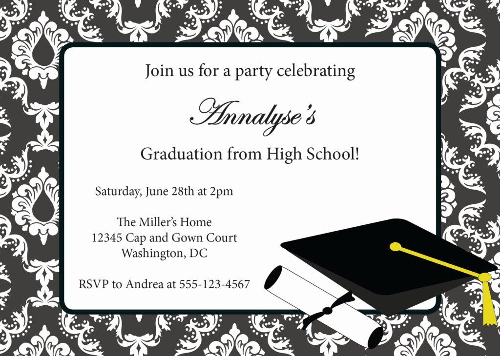 Graduation Invitation Card Template Elegant Graduation Certificates