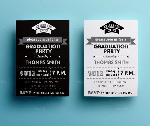 Graduation Invitation Card Template Fresh 30 Party Invitations Printable Psd Ai Vector Eps