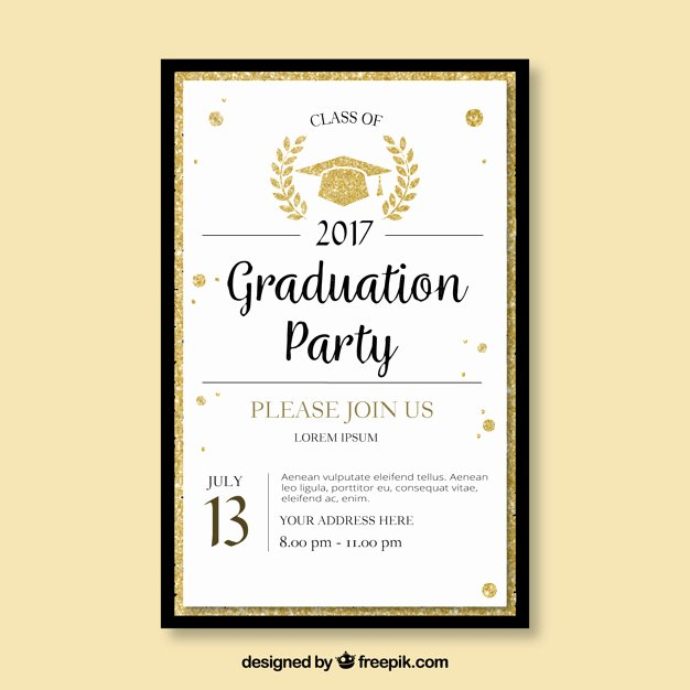 Graduation Invitation Card Template Fresh Elegant Template Of Graduation Party Brochure Vector