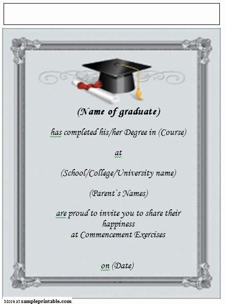 Graduation Invitation Card Template Fresh Printable Graduation Announcement Invitation Yep I M