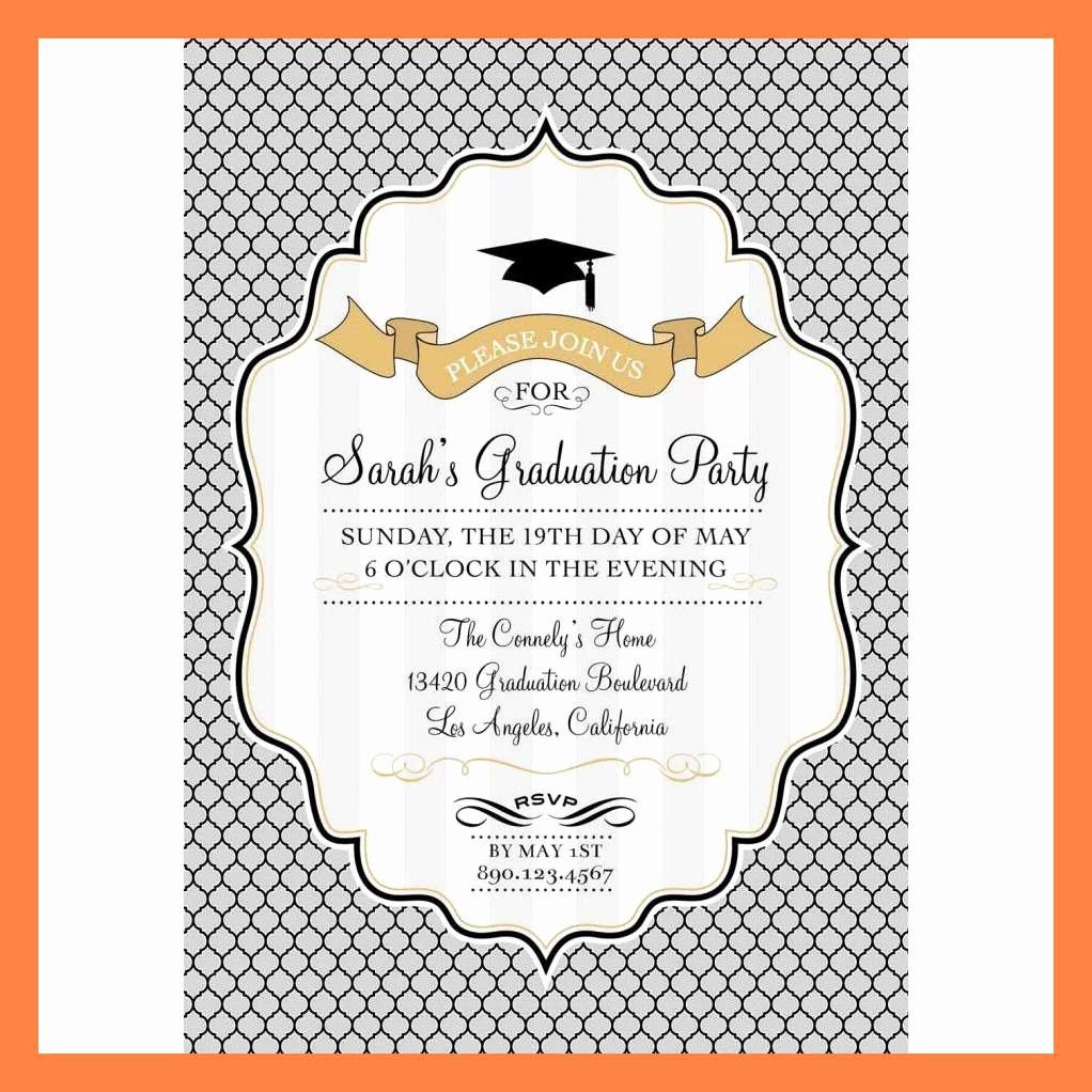 Graduation Invitation Card Template Inspirational 7 Graduation Card Template
