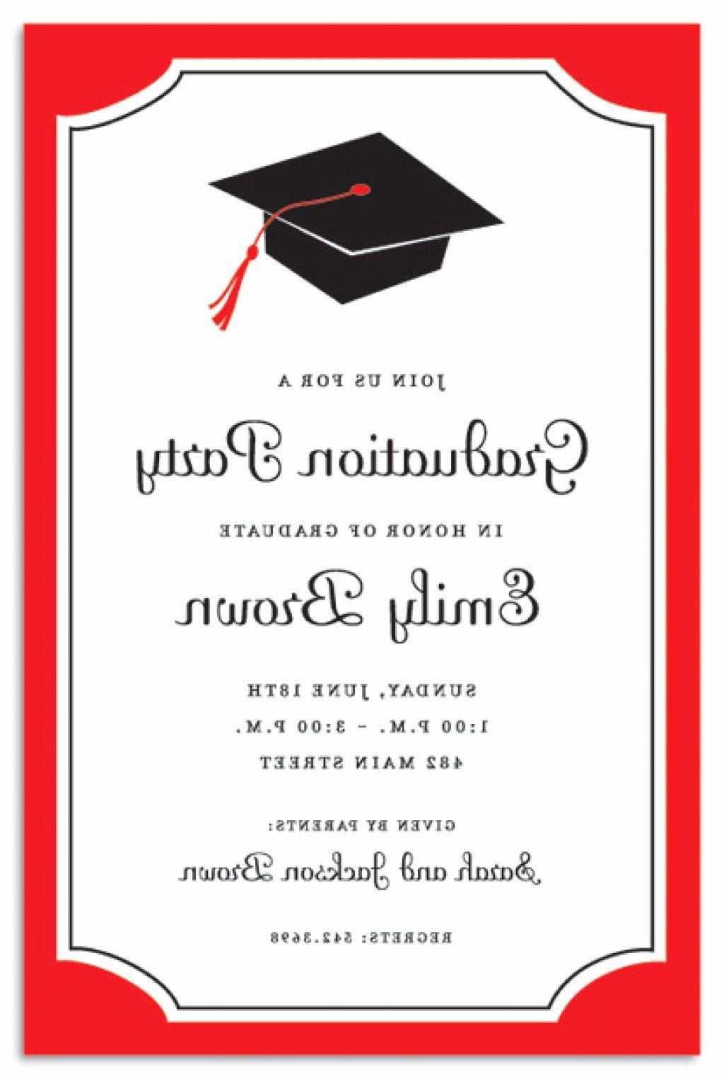Graduation Invitation Card Template Inspirational Graduation Ceremony Invitation Template
