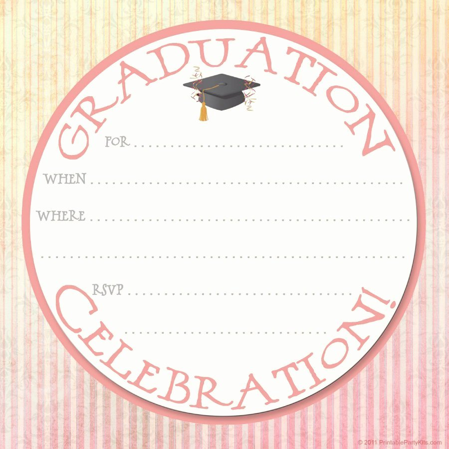 Graduation Invitation Card Template Lovely 40 Free Graduation Invitation Templates Template Lab