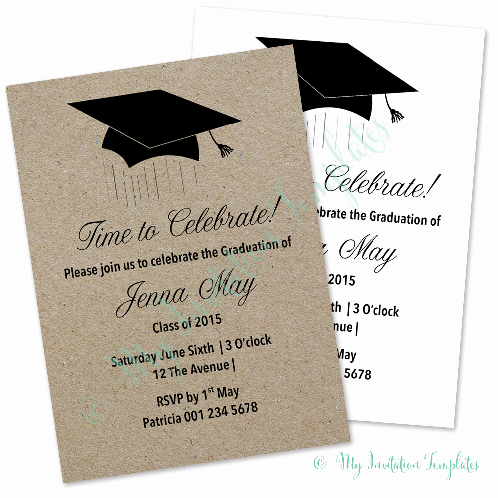 Graduation Invitation Card Template Lovely Graduation Ceremony Invitation Templates