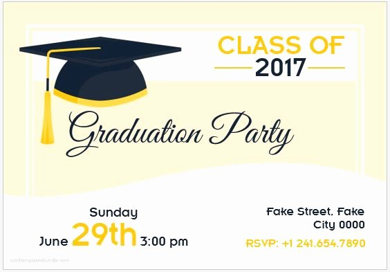 Graduation Invitation Card Template Luxury 10 Best Graduation Party Invitation Card Templates Ms Word