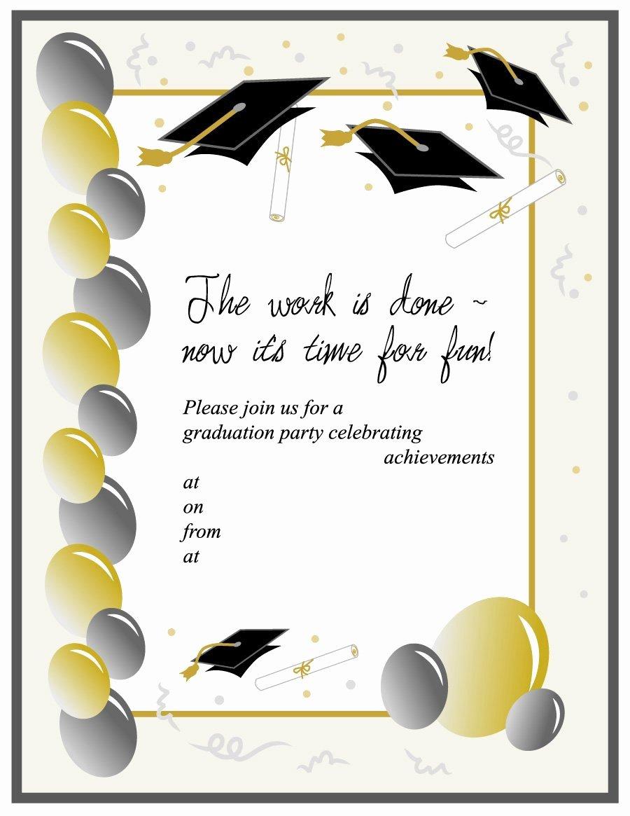 Graduation Invitation Card Template Luxury 40 Free Graduation Invitation Templates Template Lab