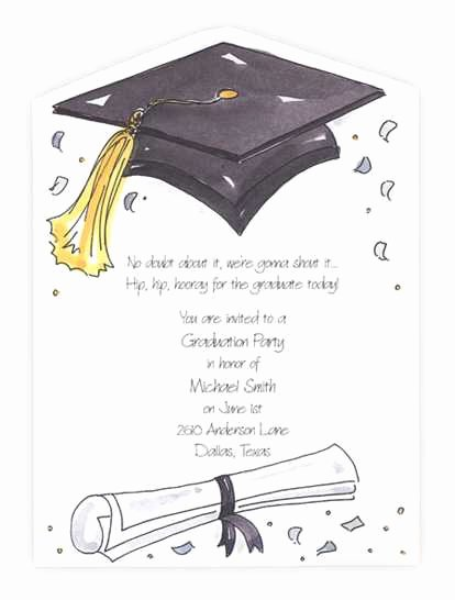Graduation Invitation Card Template Luxury Wording for Graduation Party Invitations Best Free