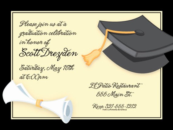 Graduation Invitation Card Template New 38 Printable Graduation Invitations Psd Ai