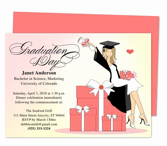 Graduation Invitation Card Template New Best 46 Printable Diy Graduation Announcements Templates