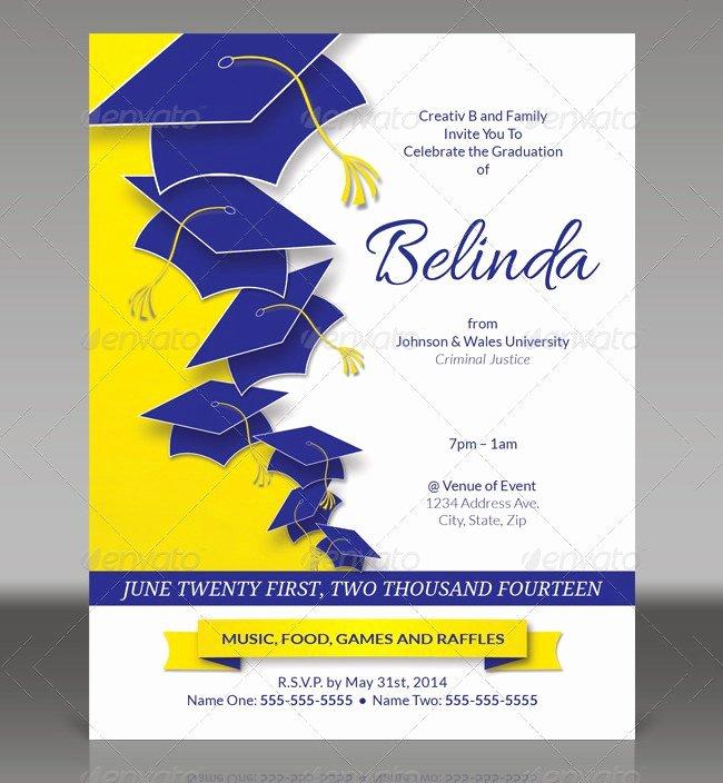 Graduation Invitation Card Template New Graduation Bbq Invitations