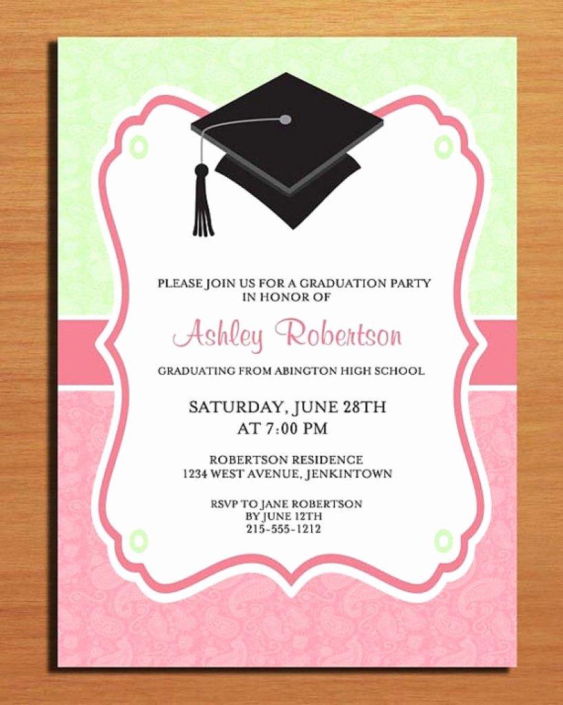 Graduation Invitation Card Template New Graduation Invitation Cards