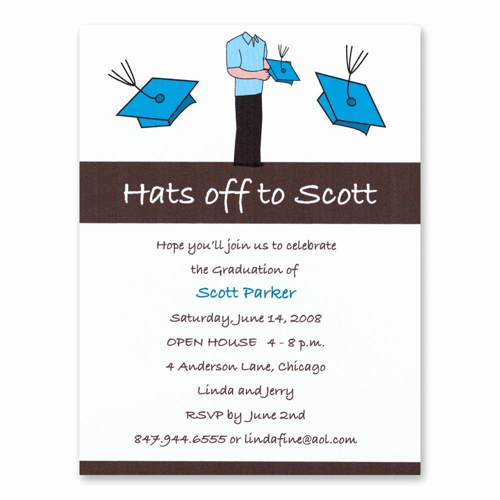 Graduation Invitation Card Template New Line Invitation Card Luxury Sample Graduation Invitation