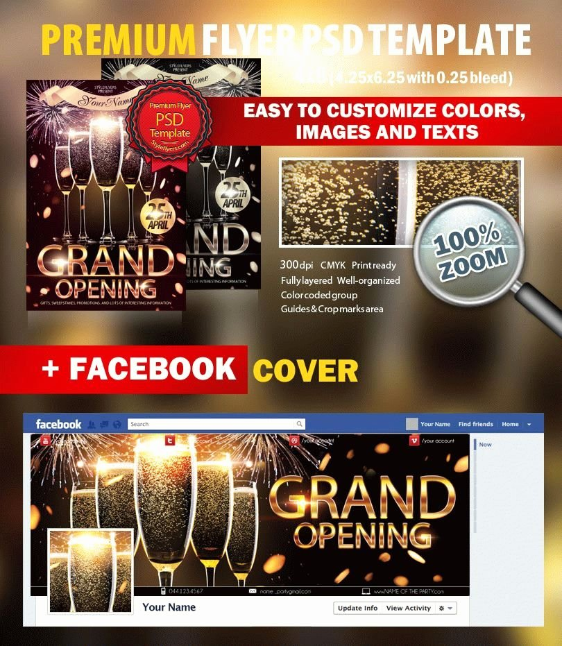 Grand Opening Flyer Template Awesome Grand Opening Psd Flyer Template 7112 Styleflyers