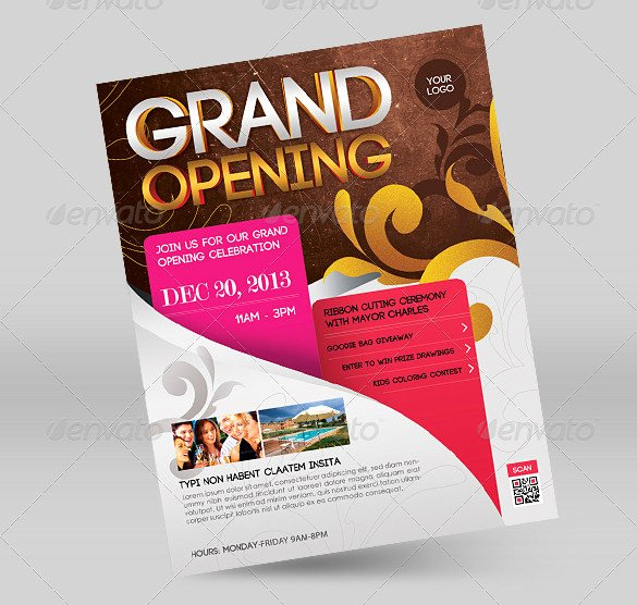 Grand Opening Flyer Template Beautiful 41 Grand Opening Flyer Template Free Psd Ai Vector