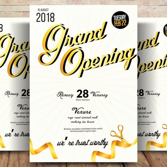 Grand Opening Flyer Template Beautiful Business Grand Opening Flyer Template for Free Download On