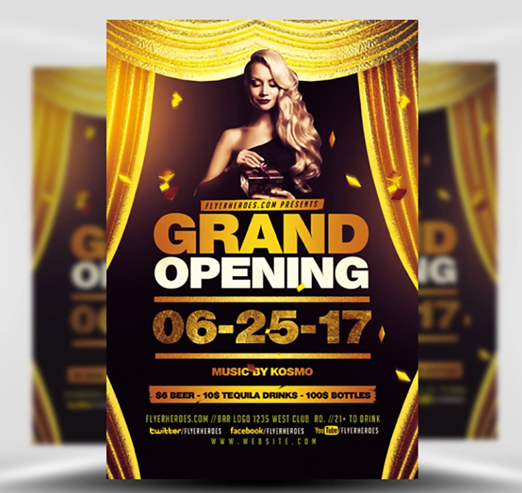 Grand Opening Flyer Template Beautiful Grand Opening Flyer Template Flyerheroes