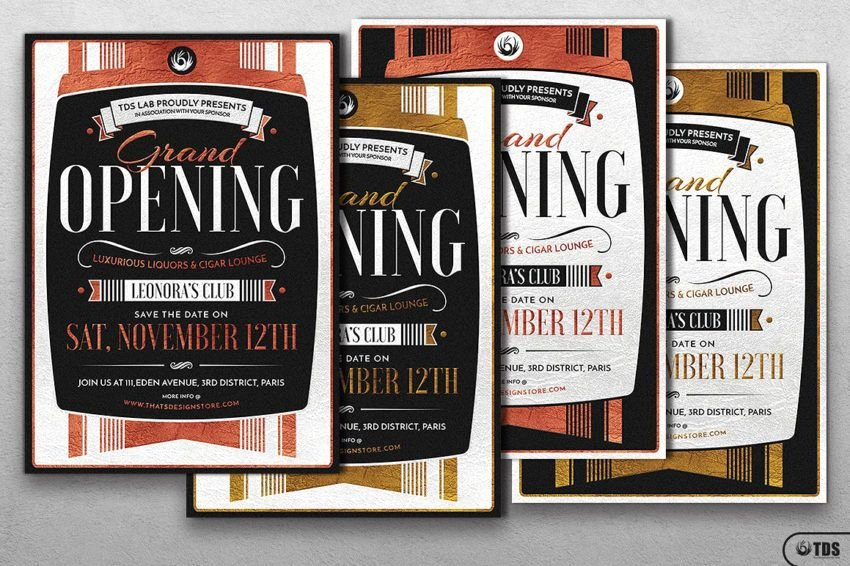 Grand Opening Flyer Template Beautiful Grand Opening Flyer Template