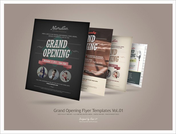Grand Opening Flyer Template Beautiful Grand Opening Flyers Vol 02 by Kinzi21