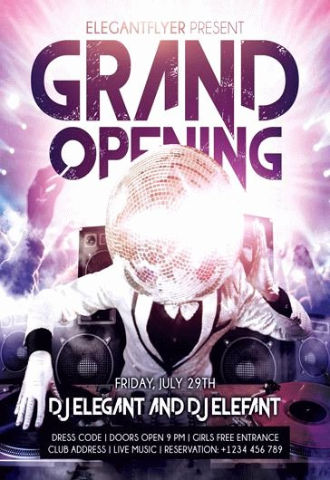 Grand Opening Flyer Template Beautiful Grand Opening