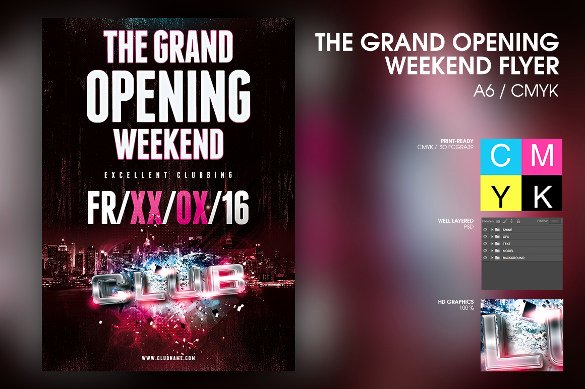 Grand Opening Flyer Template Best Of 41 Grand Opening Flyer Template Free Psd Ai Vector
