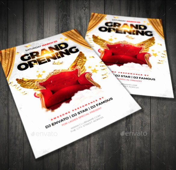 Grand Opening Flyer Template Elegant 41 Grand Opening Flyer Template Free Psd Ai Vector