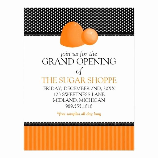 Grand Opening Flyer Template Elegant Candy Shop Grand Opening Announcement Flyers