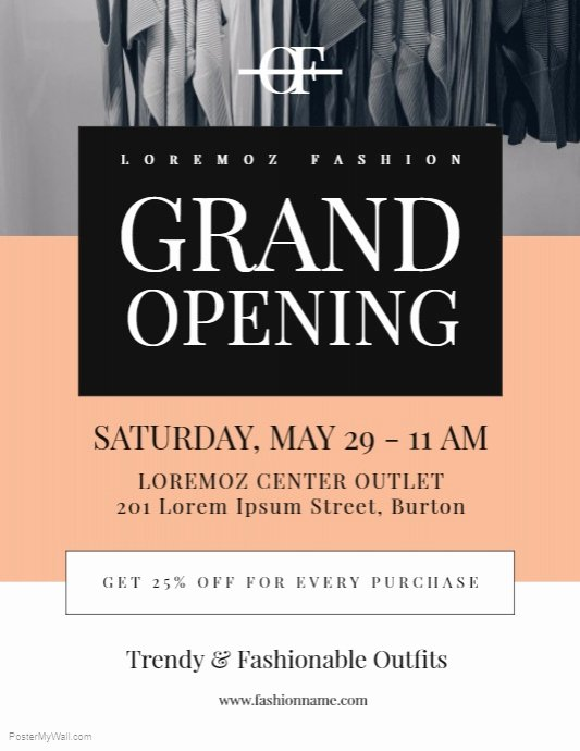 Grand Opening Flyer Template Fresh Grand Opening Flyer Template