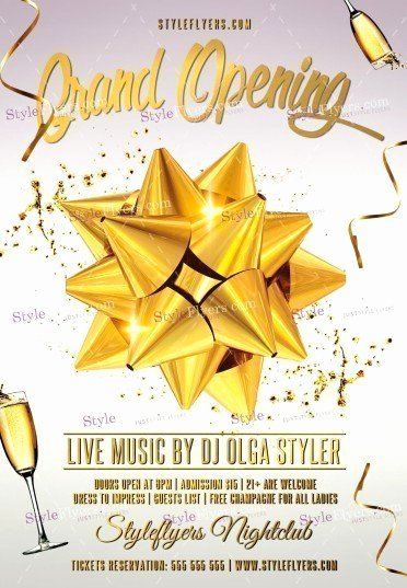 Grand Opening Flyer Template Fresh Grand Opening Psd Flyer Template Styleflyers