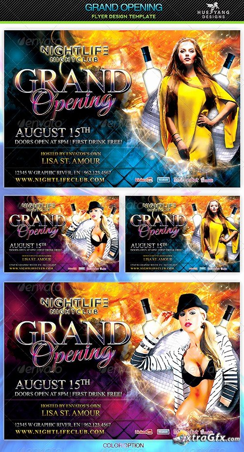 Grand Opening Flyer Template Fresh Premium A5 Flyer Template Grand Opening Xtragfx