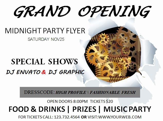 Grand Opening Flyer Template Inspirational 20 Grand Opening Flyer Templates Free Demplates