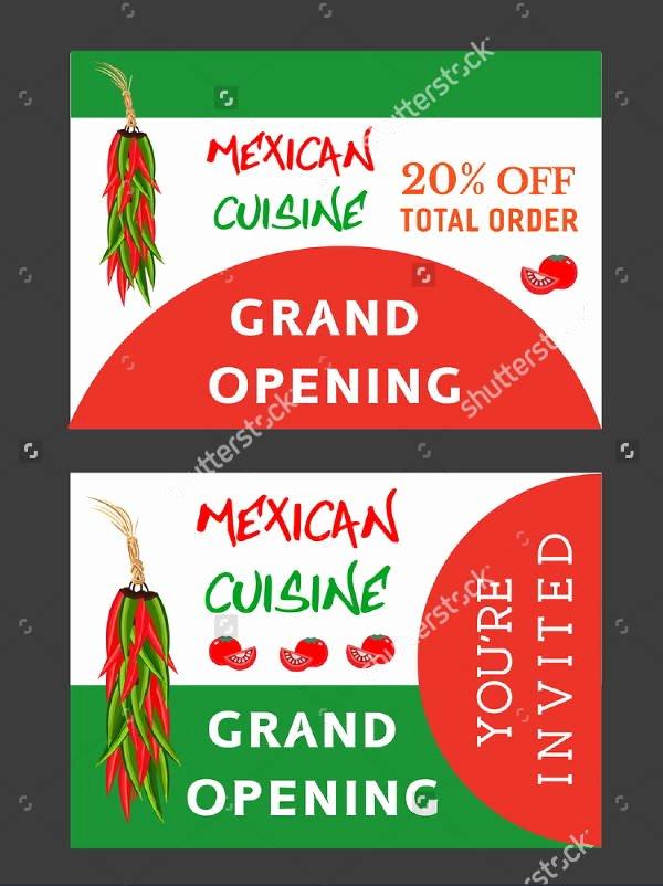 restaurant opening flyer