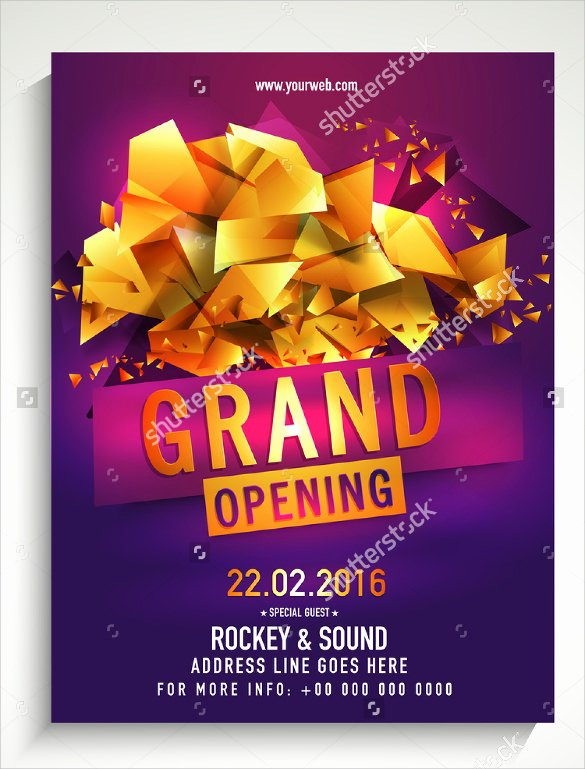 Grand Opening Flyer Template Lovely 16 Grand Opening Flyer Templates
