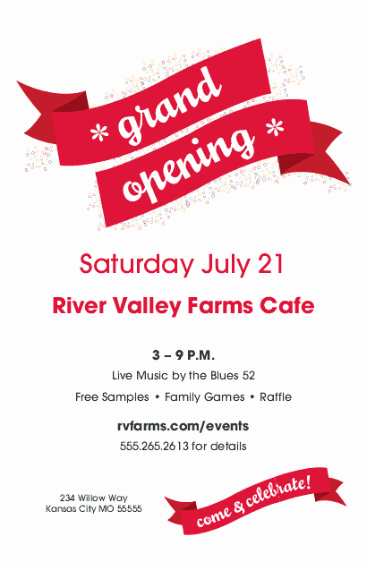 Grand Opening Flyer Template Lovely Grand Opening Flyer