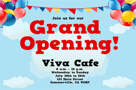 Grand Opening Flyer Template Lovely Grand Opening Flyer Templates Word Excel Samples
