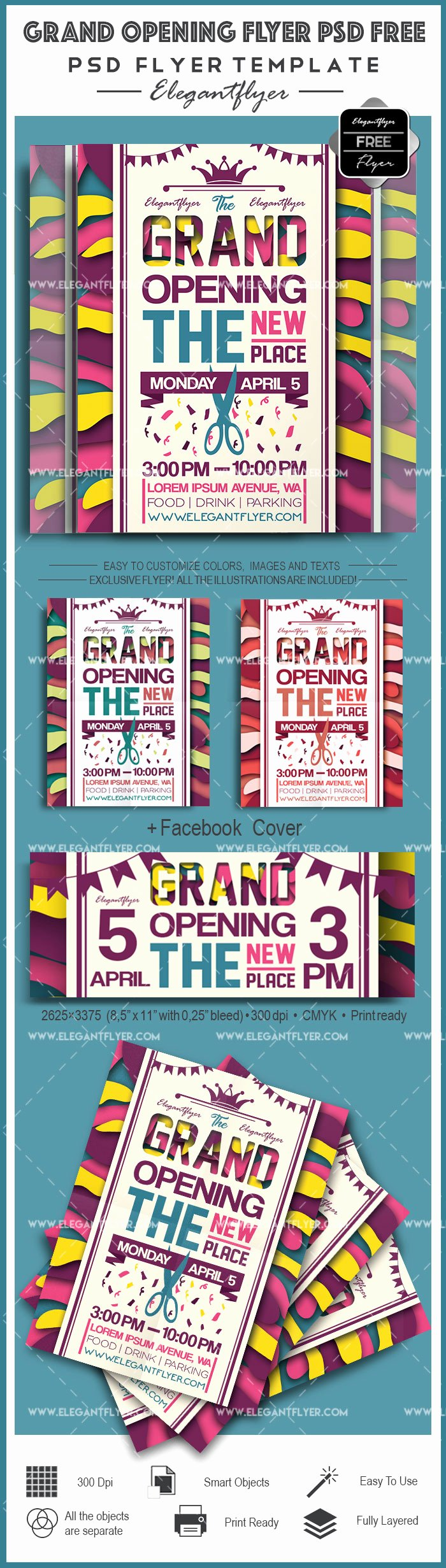 Grand Opening Flyer Template Luxury Grand Opening Flyer Psd Template – by Elegantflyer