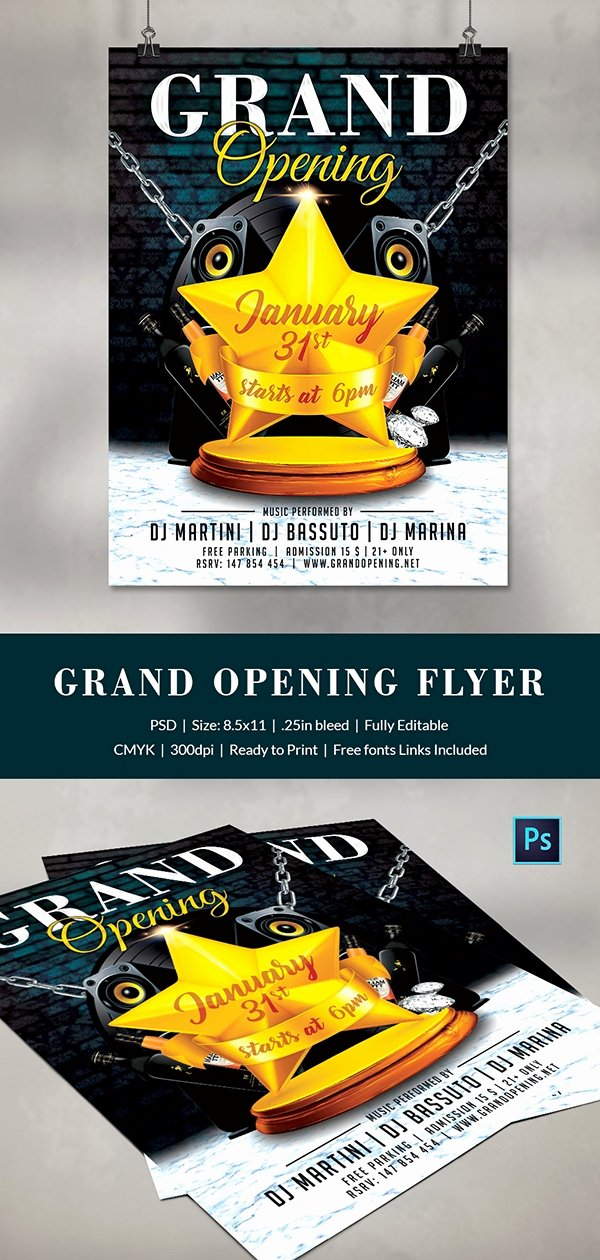 Grand Opening Flyer Template Luxury Grand Opening Flyer Template 34 Free Psd Ai Vector