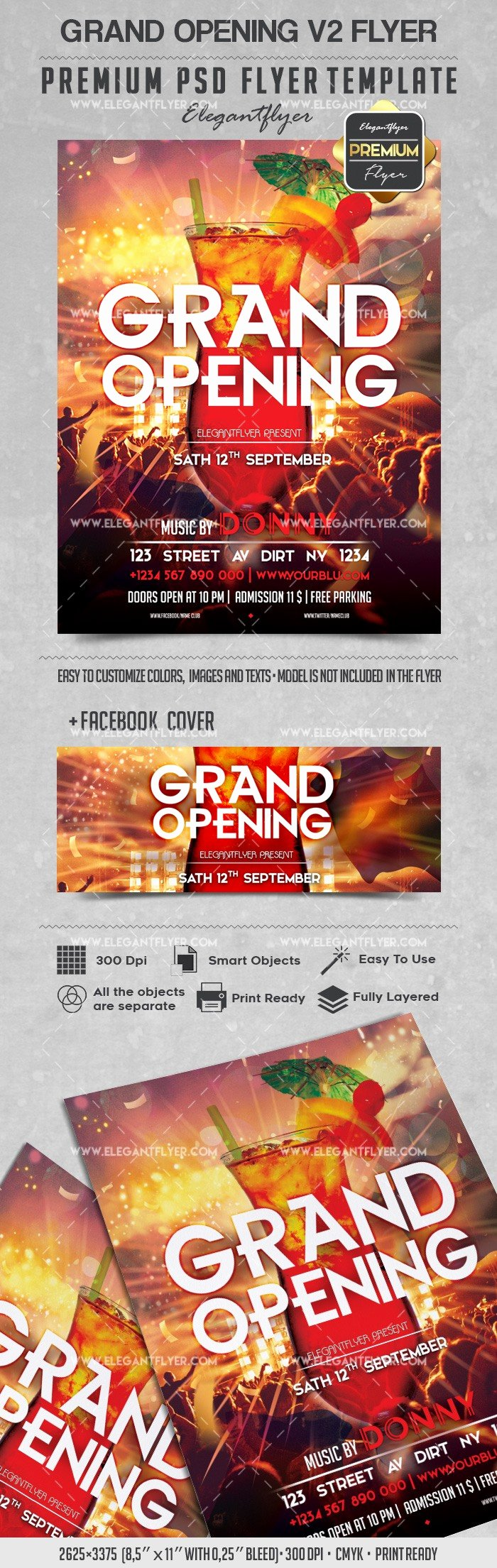 Grand Opening Flyer Template Luxury Grand Opening V2 – Flyer Psd Template – by Elegantflyer