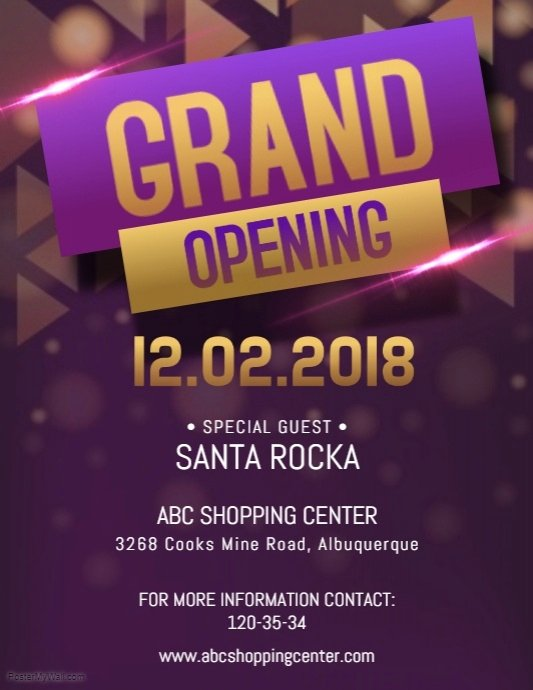 Grand Opening Flyer Template New Fancy Grand Opening Flyer Template