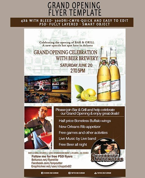 Grand Opening Flyer Template New Free Grand Opening Flyer Template Psd Titanui