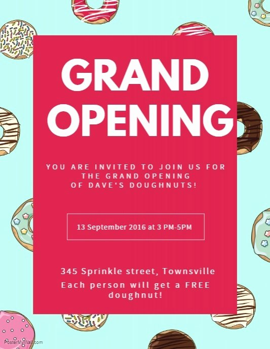 Grand Opening Flyer Template Unique Create Grand Opening Flyers In Minutes
