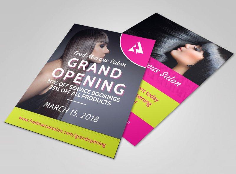 Grand Opening Flyer Template Unique Salon Grand Opening Flyer Template