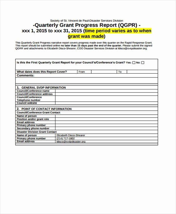 Grant Financial Report Template Awesome 10 Grant Report Templates