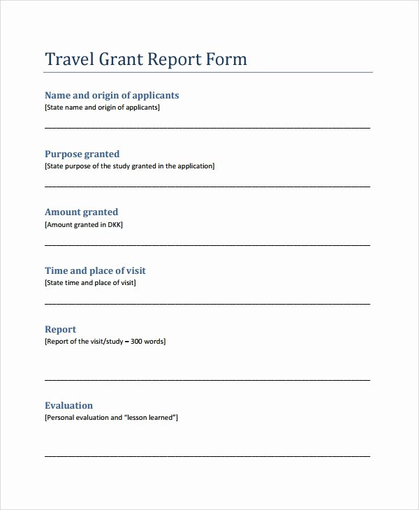 Grant Financial Report Template New 9 Sample Grant Report forms