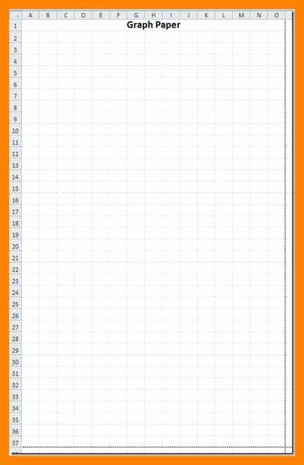 Graph Paper Template Excel Unique 10 Graph Paper Template Excel