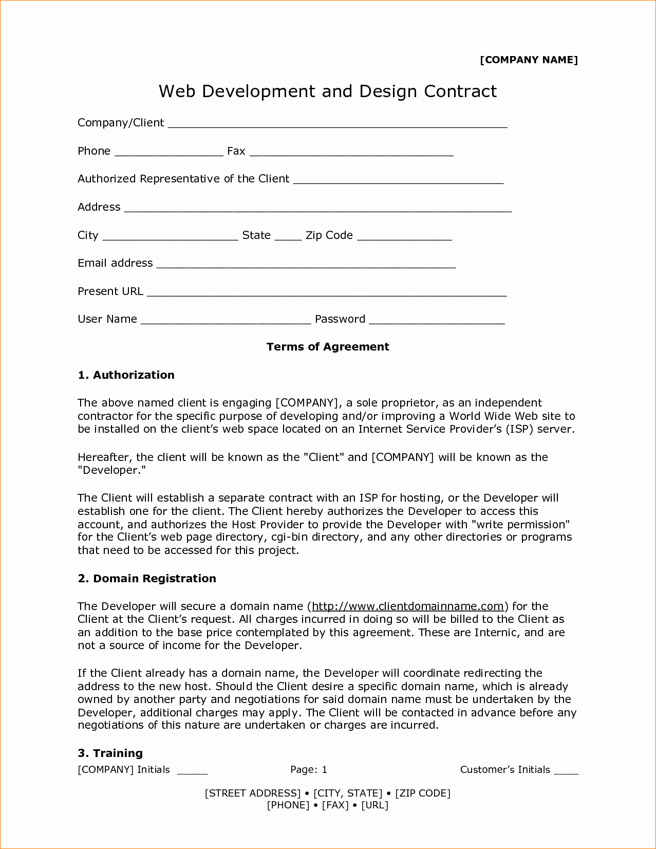 Graphic Design Contract Template Pdf Awesome 7 Web Design Contract Template