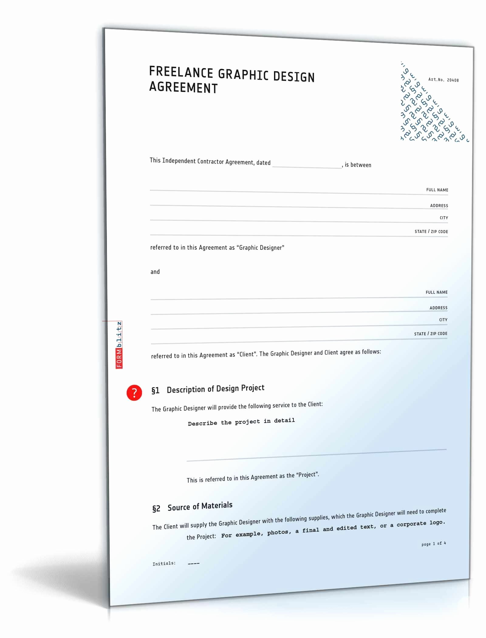 Graphic Design Contract Template Pdf Best Of Graphic Design Contract Quickly & Easily Sample Direct